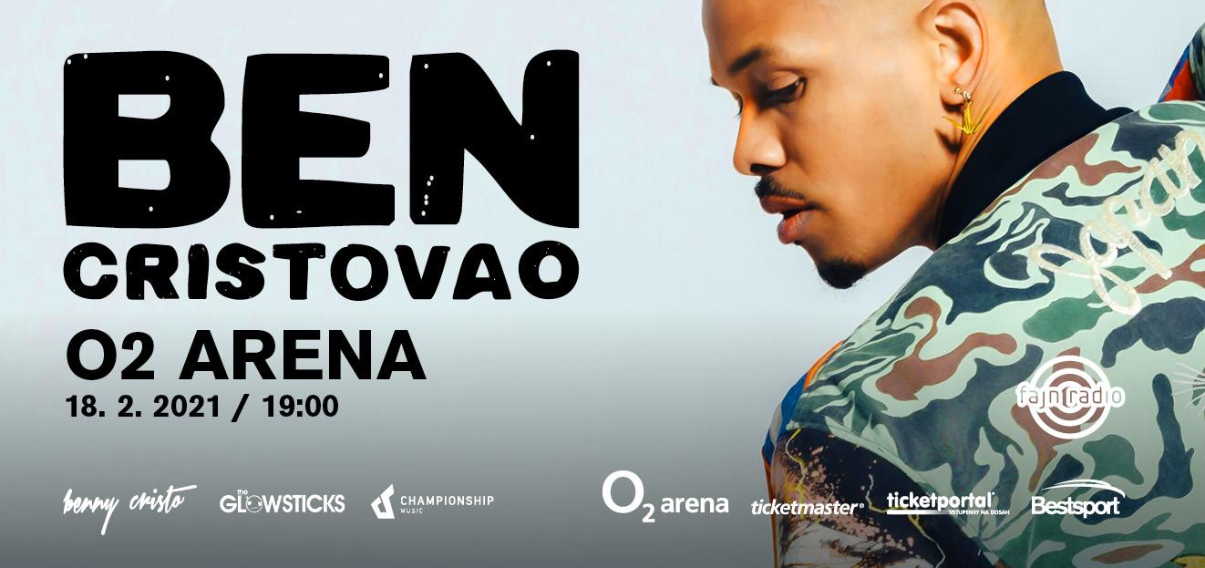 Koncert Bena Cristovao v O2 areně se přesouvá na únor 2021