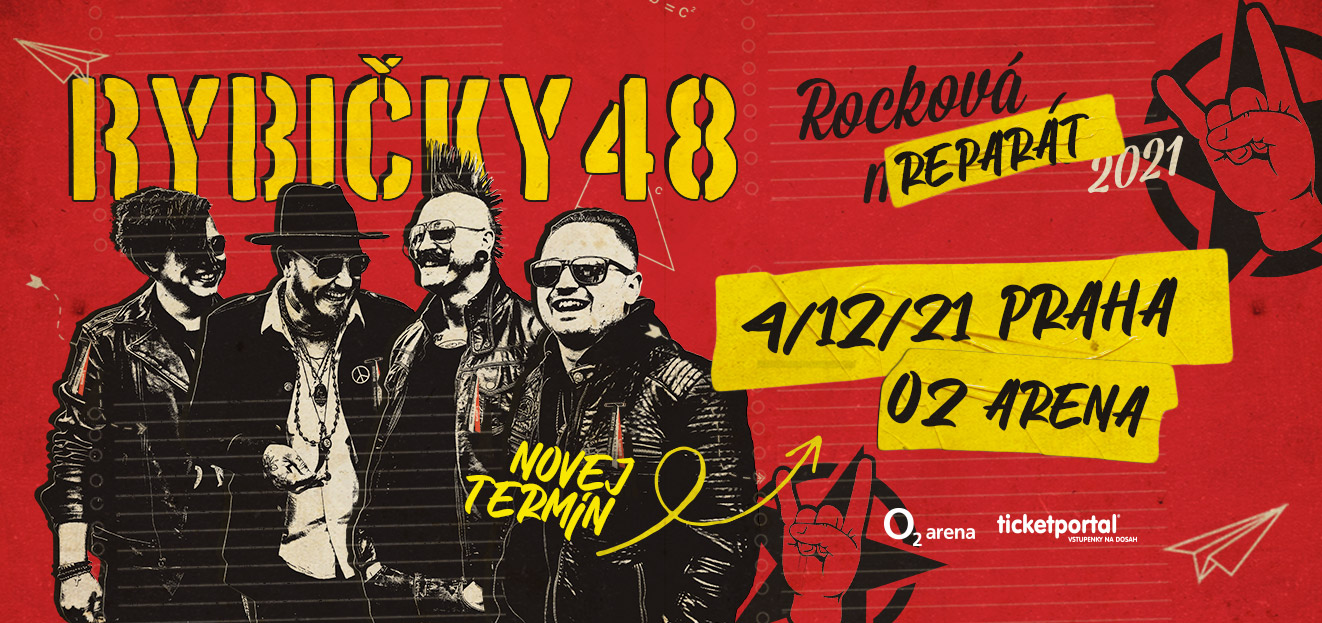RYBIČKY48 announced a new date for their concert. It will take place on 4th December 2021 at the Prague O2 Arena.