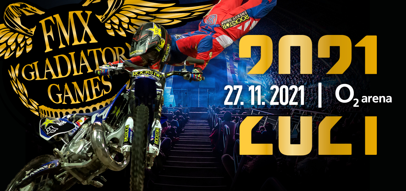 Information about the new date of FMX Gladiator Games. They will take place on 27th November 2021