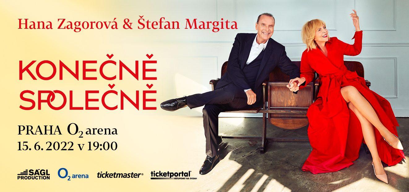 Hana Zagorová & Štefan Margita are moving their concert at the O2 arena to 15.6.2022