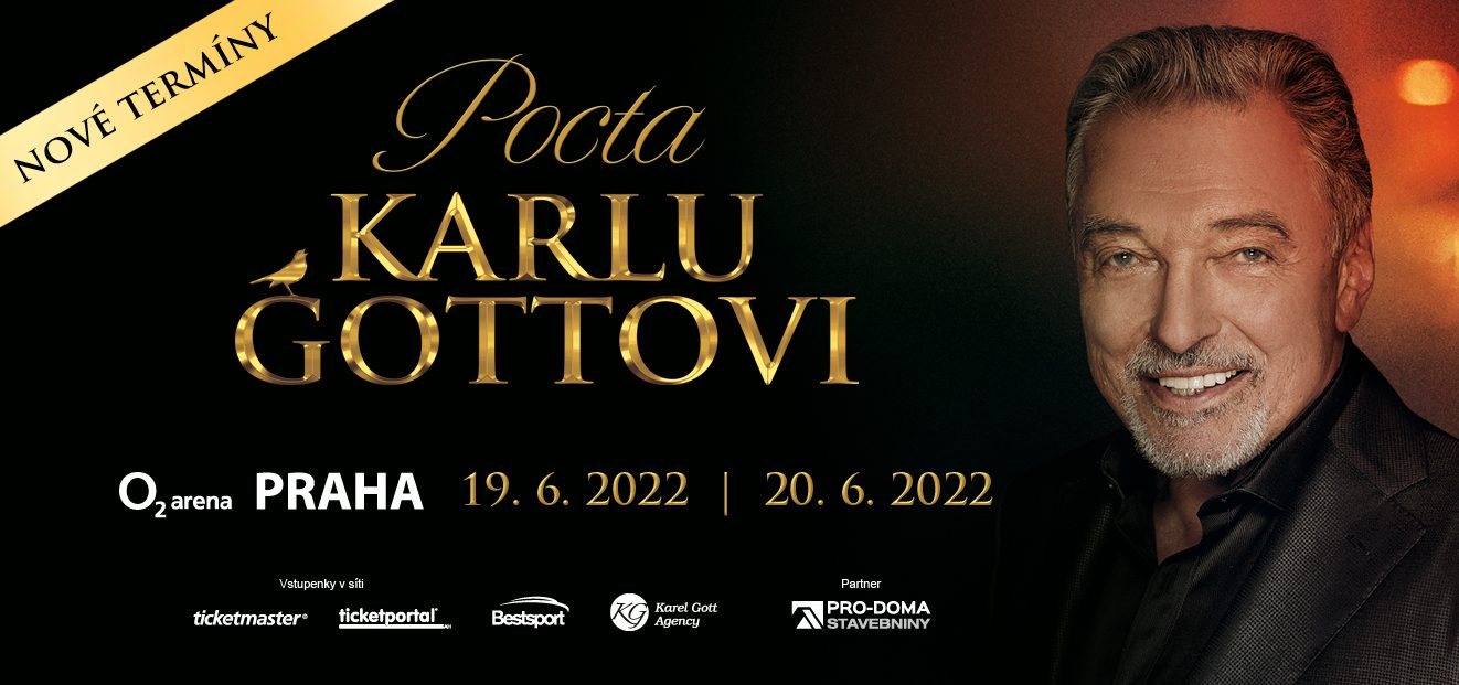 Pocta Karlu Gottovi concerts will take place on the new dates of June 19 and 20, 2022