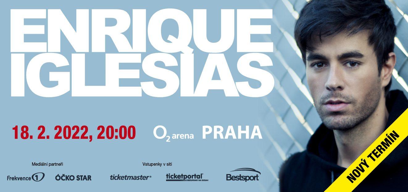 Koncert Enrique Iglesiase vO2 areně se přesouvá na 18. února 2022