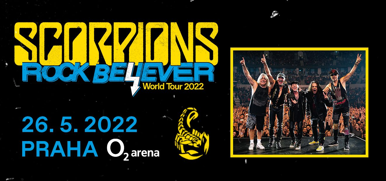 Legendary rock band Scorpions returns to Prague with their world tour Rock Believer, where they will also present their new studio album.